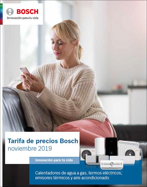 Bosch Termotecnia lanza su nueva tarifa de precios para agua caliente, calefacción y climatización.