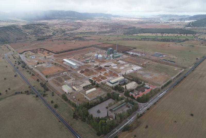 Ence inaugura la planta de generación de energía renovable con biomasa en Puertollano.