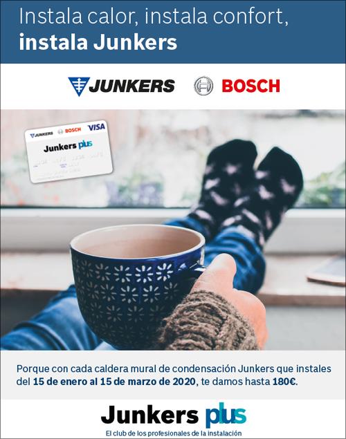 """Junkers pone en marcha la campaña """"Instala calor, instala confort, instala Junkers"""" para premiar la fidelidad de sus instaladores inscritos en el Club Junkers plus"""