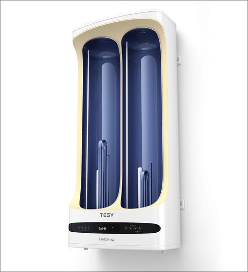 TESY presenta los termos eléctricos BelliSlimo Dry Termos eléctricos con doble acumulación y resistencias eléctricas independientes en seco.