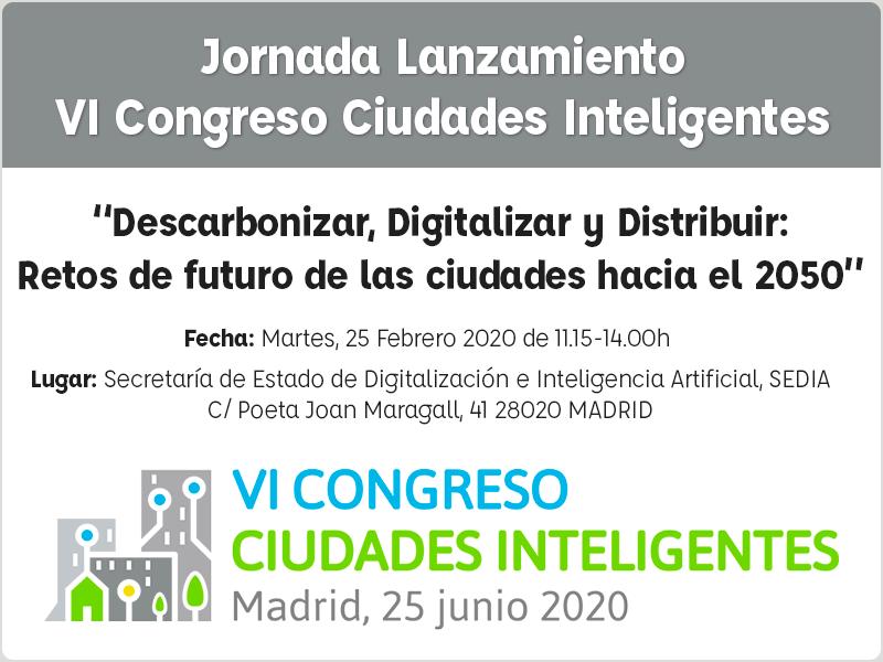 Jornada de lanzamiento del VI Congreso Ciudades Inteligentes