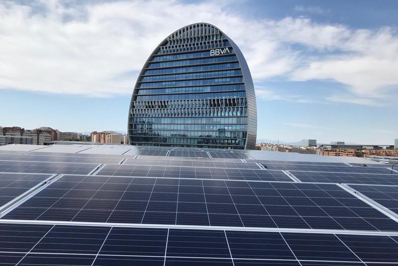 BBVA apuesta por la energía fotovoltaica en su sede central de Madrid