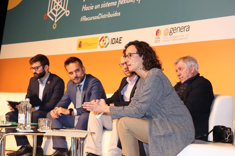 """Sesión de apertura en la jornada marco del IDAE """"Tansformación energética y recursos distribuidos""""."""
