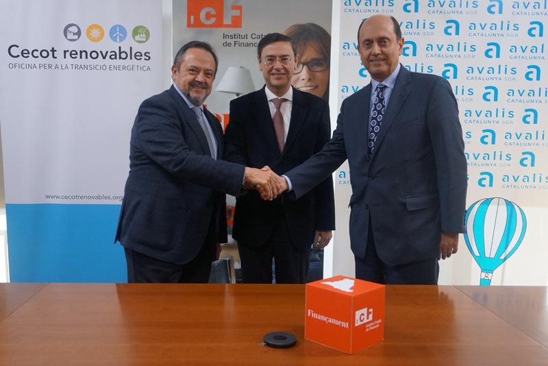 El ICF, Avalis y la Cecot firman un convenio para promover la financiación de proyectos de eficiencia energética y autoconsumo fotovoltaico en las pymes de Catalunya.