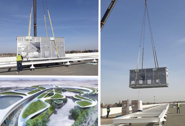 El nuevo Centro Comercial Open Sky de Torrejón de Ardoz, Madrid, ha elegido un equipo autónomo de producción de calor Roof Top de Adisa Heating para dar servicio de calefacción a las zonas comunes del centro.