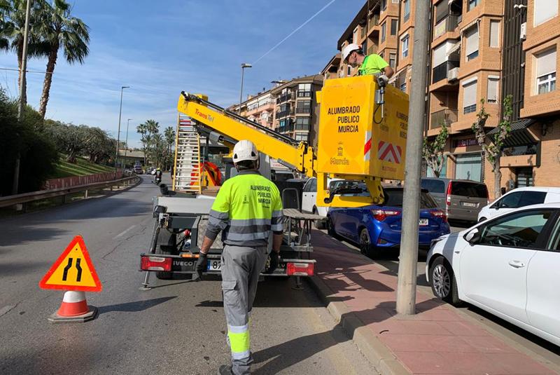 El Ayuntamiento de Murcia reduce sus emisiones de CO2 en el último año con la renovación del alumbrado público.