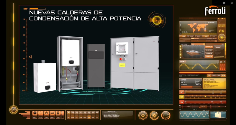 Nueva gama de calderas de condensación de alta potencia para calefacción central de Ferroli: FORCE W, FORCE B, ROOF TOP FORCE B y OPERA