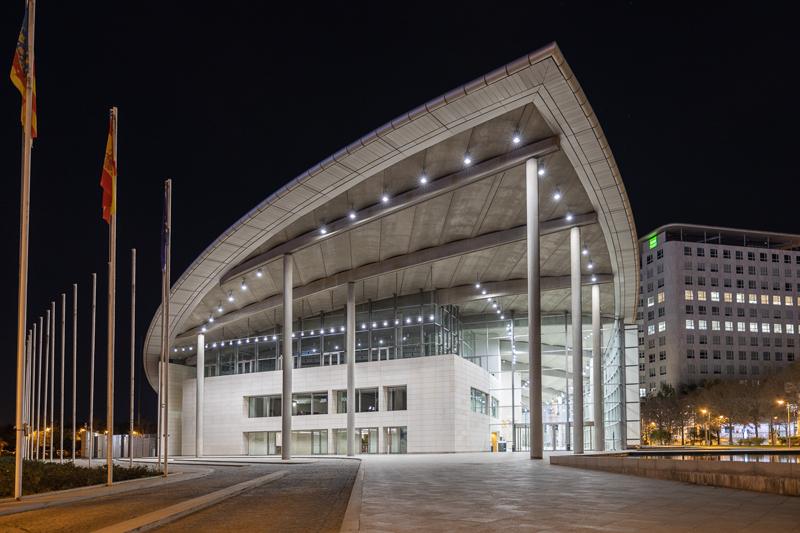 El Palacio de Congresos de Valencia ahorrará en 2020 un millón de kWh al implantar tecnología LED en su iluminación.