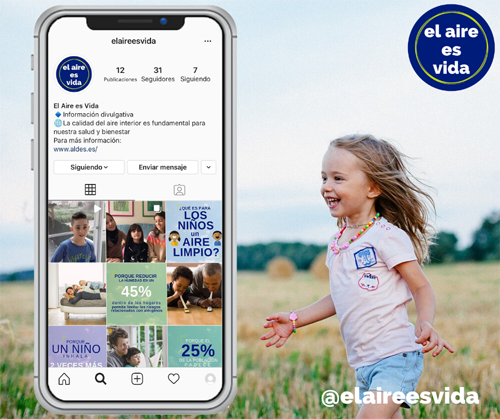 Aldes crea una nueva iniciativa en Instagram llamada @elaireesvida