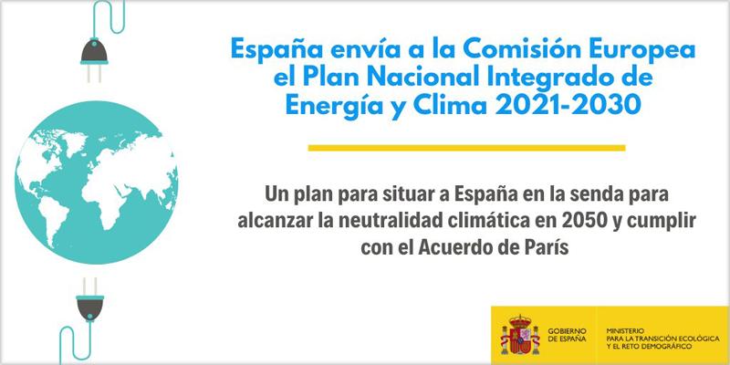 El PNIEC 2021-2030 sitúa a España en la senda para alcanzar la neutralidad climática en 2050.