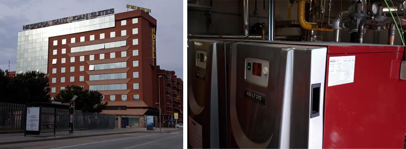 """Calderas Adisa en el Hotel Hesperia Sant Joan Suites adaptado a """"Hotel Salud"""""""