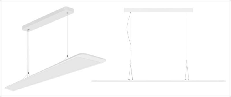 Luminarias Panel Direct/Indirect de Ledvance para entornos de trabajo.