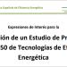 Convocatoria de expresiones de interés para implantar nuevas tecnologías de eficiencia energética entre 2030 y 2050