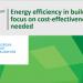El TCE considera que el gasto europeo en eficiencia energética debe obedecer a la rentabilidad