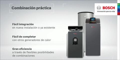 Caldera compacta de condensación de tres pasos de humos Bosch Uni Condens 8000 F (50 – 640 kW)