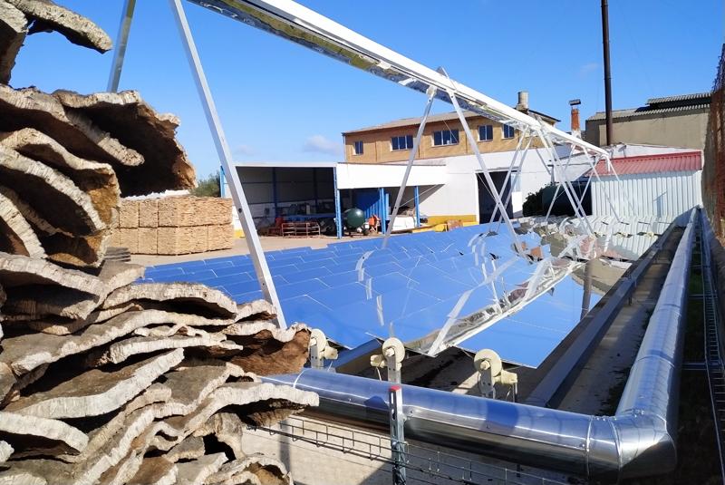 CICYTEX coordina las pruebas de validación de un prototipo de energía solar-metal para su implementación en la industria corchera