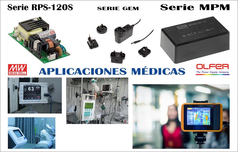 Fuentes de alimentación para aplicaciones médicas.