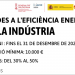 Se reduce la inversión mínima para recibir las ayudas a la eficiencia energética en la industria valenciana