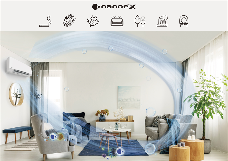 La tecnología nanoe™ X de Panasonic elimina alérgenos, bacterias y virus del aire interior