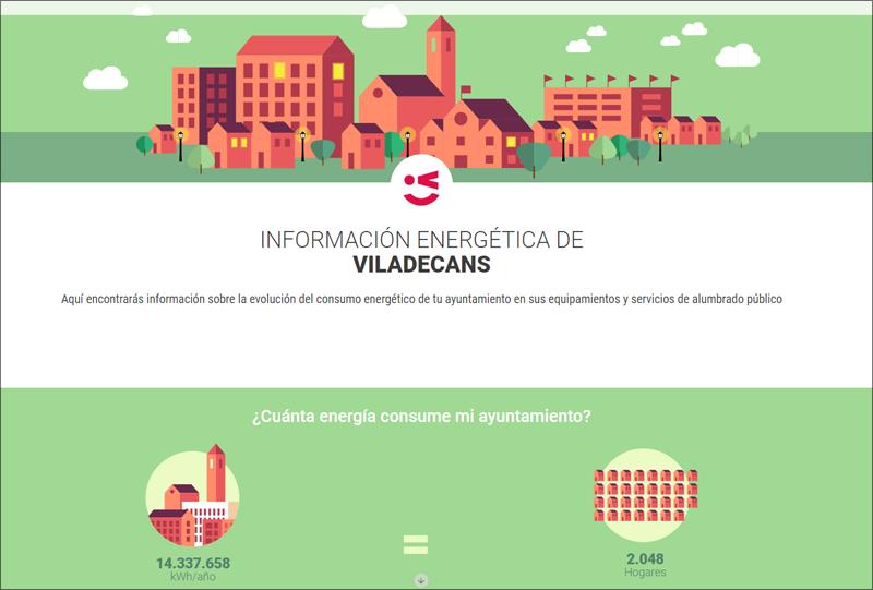 Viladecans lanza el portal de la energía donde hará públicos sus consumos energéticos