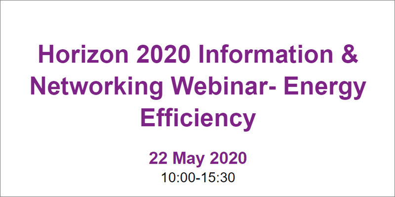 Webinar sobre convocatoria Horizonte 2020 Eficiencia Energética
