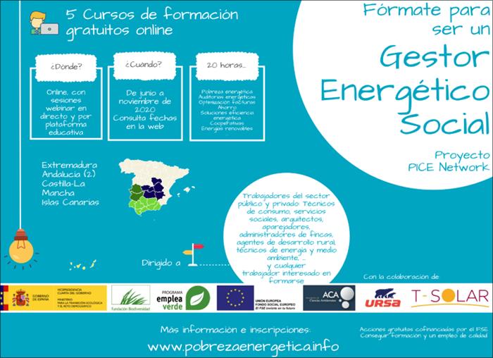 Inscripciones abiertas y nuevas fechas de los 5 cursos (online) para ser un gestor energético socia
