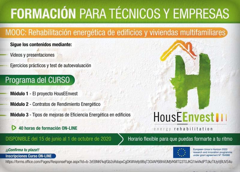 Un curso online formará a técnicos y empresas en rehabilitación energética en edificios y viviendas multifamiliares