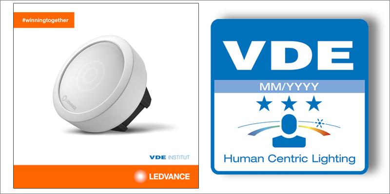 LEDVANCE recibe el certificado Human Centric Lighting de VDE por su sistema Biolux HCL.
