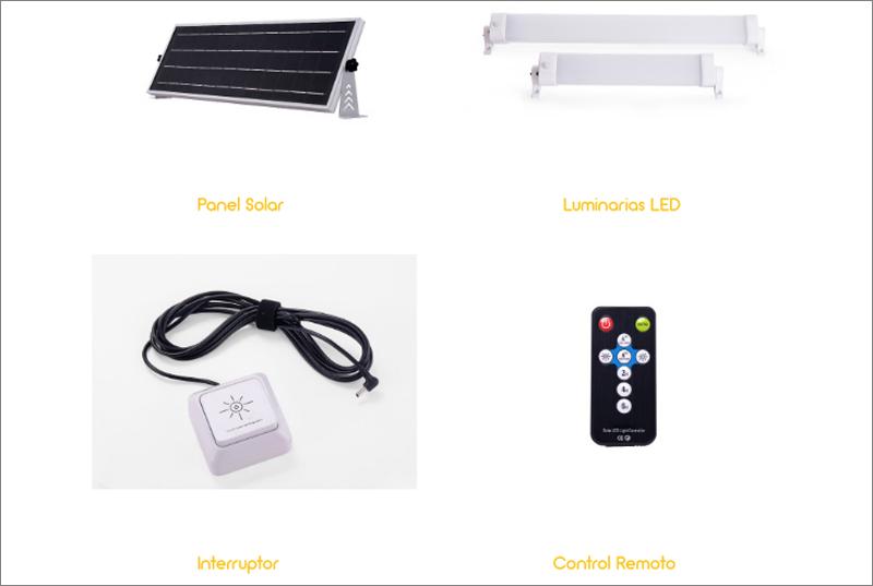 Promoción Kit Iluminación Solar de BlueLed de Solmad.