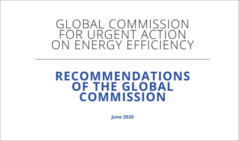 Recomendaciones para acelerar el progreso de la eficiencia energética global en el nuevo escenario pos-COVID-19