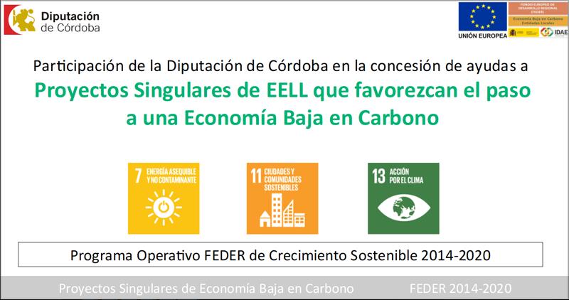 La Diputación pone en marcha las primeras obras de los 62 proyectos de Economía Baja en Carbono aprobados por importe de más de 17 millones de euros