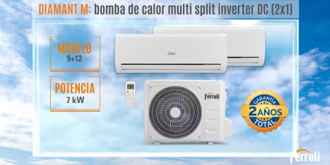 Nueva gama de aire acondicionado residencial Diamant de Ferroli