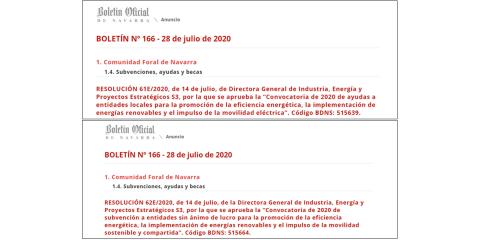 Ayudas públicas para impulsar la eficiencia energética y las renovables en Navarra