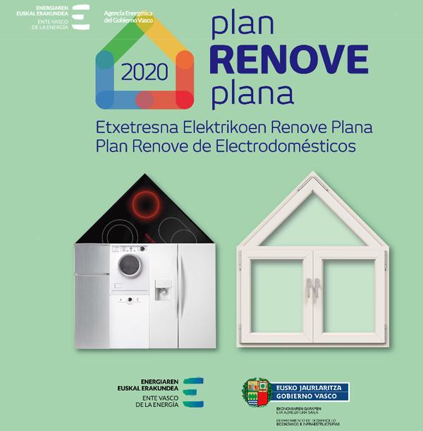 Plan Renove de Electrodomésticos y Ventanas en País Vasco.