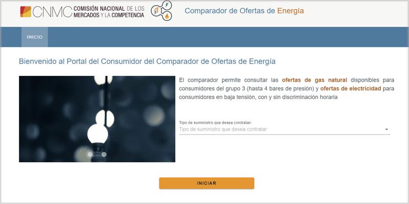 Portal del Consumidor del Comparador de Ofertas de Energía