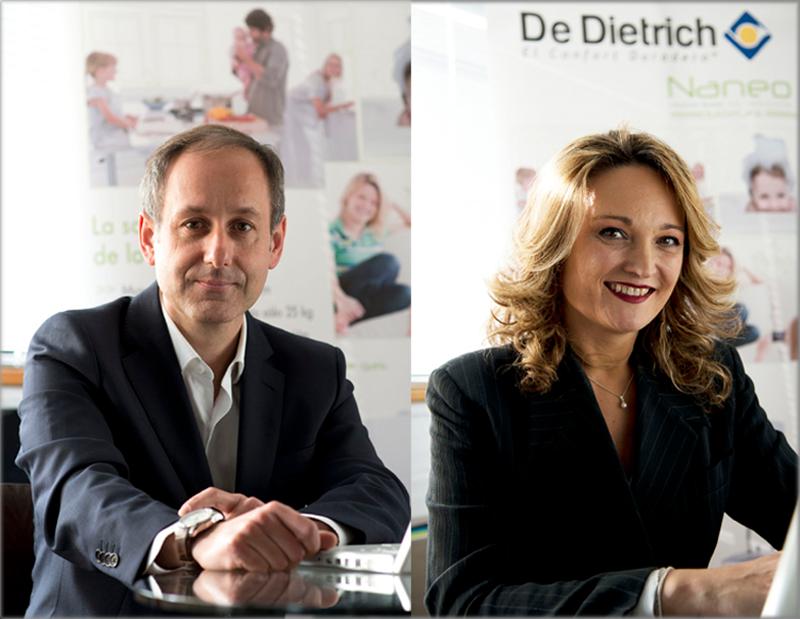 Ángel Torrescusa, Product Manager, y Ana de la Torre, Manager Spain, de De Dietrich