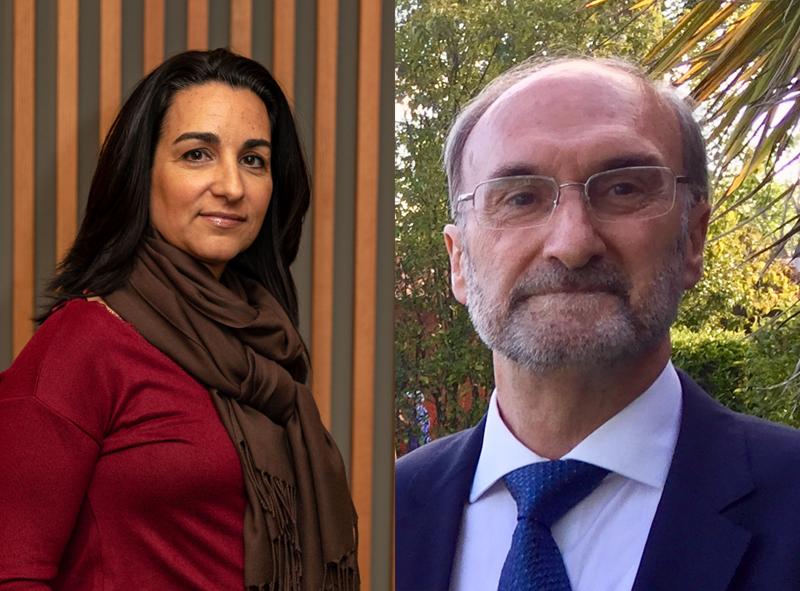 Lorena Espada, presidenta de IFMA España, y Jesús de Lara, presidente de ASHRAE Spain Chapter
