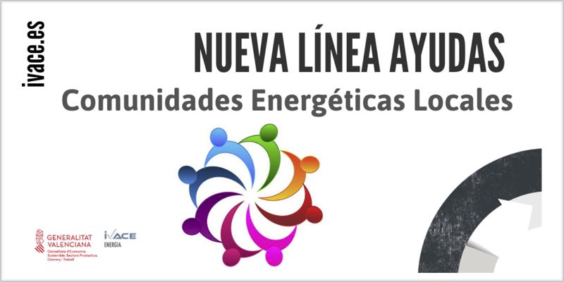 Cartel comunidades energéticas locales de Valencia