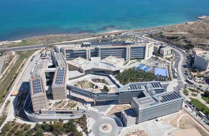 Foto aérea de la sede de la EUIPO en Alicante