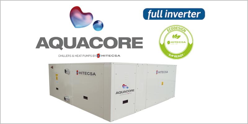 La nueva bomba de calor Aquacore de Hitecsa permite la climatización mediante una red hidráulica