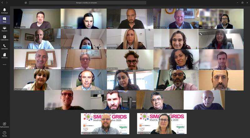 Foto de familia del Comité Técnico en la reunión online