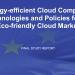 Tecnologías y políticas de computación en la nube energéticamente eficientes para un mercado de la nube ecológico