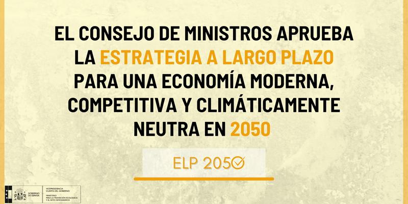 Cartel que anuncia la aprobación de Estrategia de Descarbonización a Largo Plazo 2050