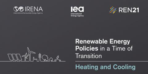 Informe de Irena, AIE y REN21 para impulsar la calefacción y refrigeración renovables