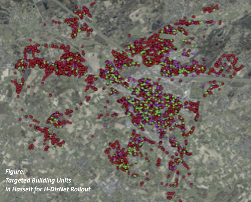 Caso de estudio de la red de distrito de calefacción urbana en Hasselt