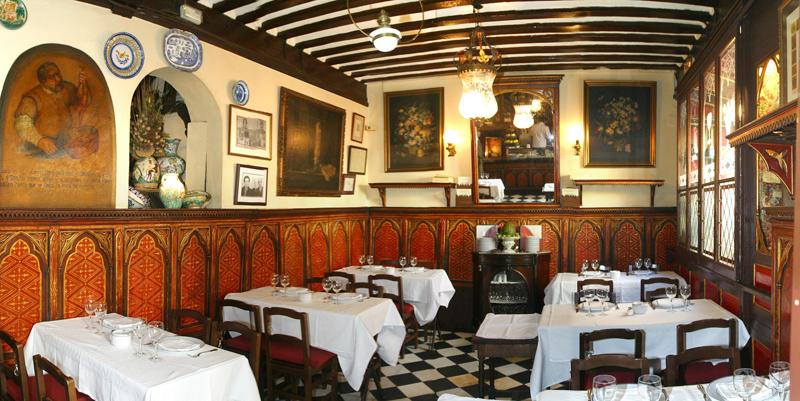 Interior del restaurante Botín.