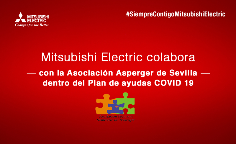 Donación de purificadores de Mitsubishi Electric a la Asociación Asperger de Sevilla.