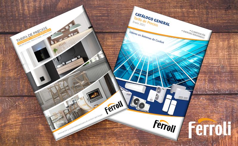 tarifas de calefacción y climatización 2021 de Ferroli