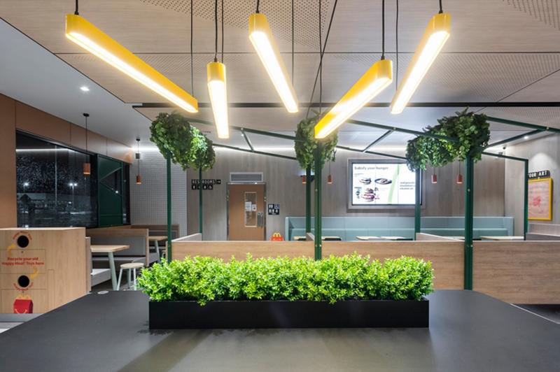 Iluminación interior del nuevo restaurante