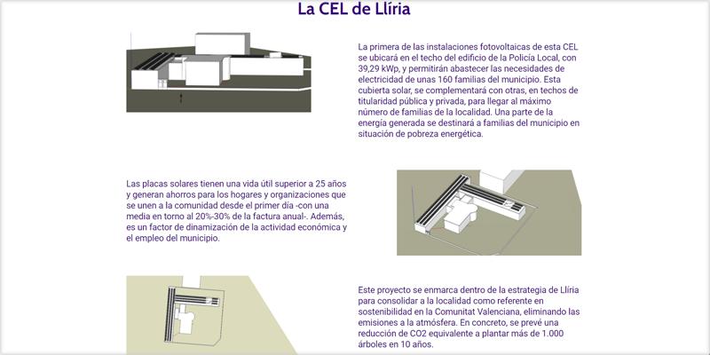 Características de la comunidad energética local de Llíria